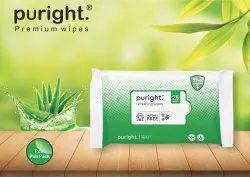 Puright 25 Pulls Wet Wipes With Aelo Vera + Cucumber Fragrance