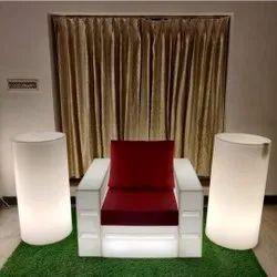 Royal Modern LED Sofa Chair, Back Style: Cushion, Width - 39