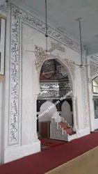 Indoor White Marble Masjid Handicraft Service