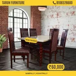 Marble Top 6 Seater Dining Set