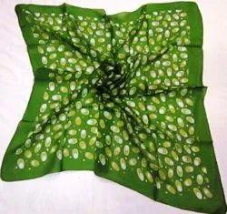 100% Silk Tabby Printed Square Scarves