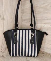 Wing Jacquard Fabric Handbag For Ladies