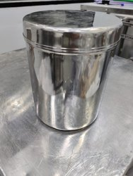 SS316 Round Container 5 Liter Tight Fit Lid