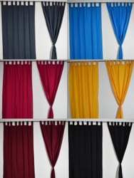Silk Plain Solid Color Curtains, For Home, Size: 7 And 9 Feet