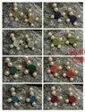 stone earring tops