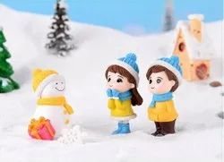 Pvc Snowman With Lover Couple Miniature Showpiece - Style 30 - Style 31, Packaging Type: Plastic Box