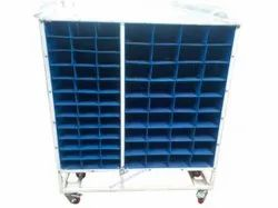 Plastic Cage Pocket Trolley for Inhouse & Line Transfer Trolley.