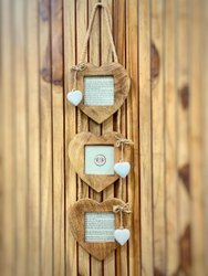 Wooden Brown Heart Photo Frame, For Decoration, Size: 29inches X 7.5inches