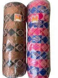 Printed Brown Cotton Mattress Fabrics