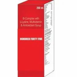 B-Complex With L-Lysine Multivitamin And Antioxidant Syrup