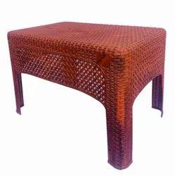 Shubh Brown Rattan Tea Table (Jali Table)