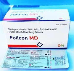 Methylcobalamine & Pyridoxine HCL & Vit D3 And Folic Acid Mouth Dissolving Tablet