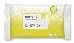 Wet Face Wipes 25pc Pulls With Lemon Fragrance