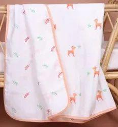 Organic Muslin Fabric Baby Blankets