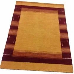 Yellow and Brown FAF00260 Hand Loom Faf Carpet