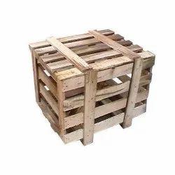 Rectangular Rubber Wood Wooden Pallet Packaging Box, Capacity: 120kg
