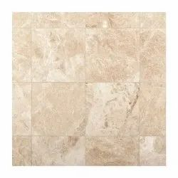 Beige Cappuccino Marble Tiles, Thickness: 0.375 inch, Unit Size: 12 X 12 Inch
