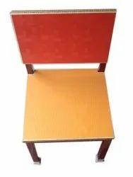 Weight: 10kg Orange And Red Polished Teak Wood Chair
