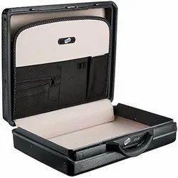 ABS Plain American Tourister Briefcase Status (Black And Burgundy)