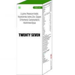 L-Lysine Potassium Iodide Nicotinamide Iodine Zinc Copper D-Panthenol Carbohydrate & Multimineral
