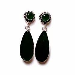 Green Onyx Gemstone Designer Earrings