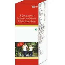 B-Complex With L-Lysine, Multivitamin & Antioxidant Syrup