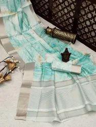 PARV CREATION Blue Lehenga Sarees