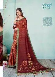 Fancy Digital Print Linen Saree