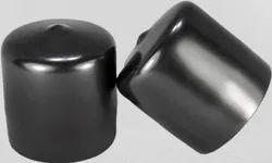 Glossy PVC Black Tube End Cap, Size: 1.5inch (Diameter)