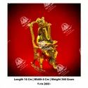 Gold Plated Chair Ganesh Statue
