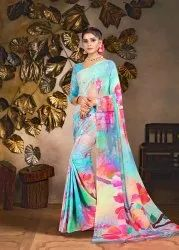 Geometric Silk Saree