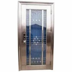6 Feet Silver Stainless Steel Hinged Gate