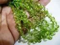 Natural Peridot Pear Shape Briolette Beads Size 4x6mm To 4x8mm Strand 8 Inches Long. Sold Per Strand