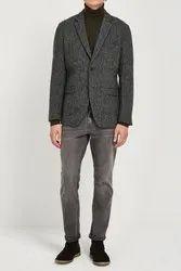 White Label Solid And Check Woolen Blazer