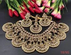 Wedding Necklace Designer Jewellery, Size: Free