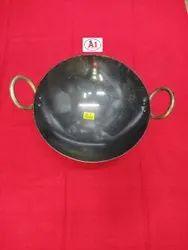 Round MS KADAI, For Home, Capacity: 1.2 Litre