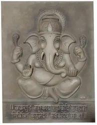 Wall Decoration Fiber Ganesh Picture Tile, For Interior Decoration