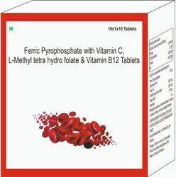 Ferric Pyrophosphate With Vitamin C, L-methyl Tetra Hydro Folate & Vitamin B12 Tablets