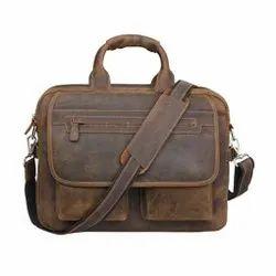 Plain MBE/MB/21 Leather Bag