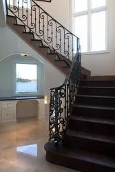 Curved Wrought Iron Staircase