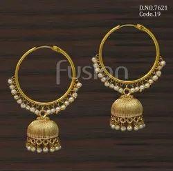 Girls Festival Fusion Arts Antique Bali Jhumka Earrings