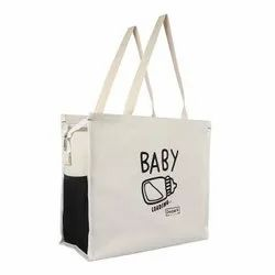 Double R White Maternity Diaper Canvas Shoulder Carry Bag For Pregnant Women