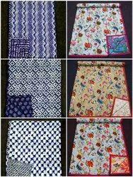 Cotton, Maslin, Handblock Dohar