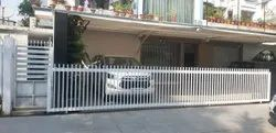 Silver Stainless Steel Collapsible Sliding Gate, For Home