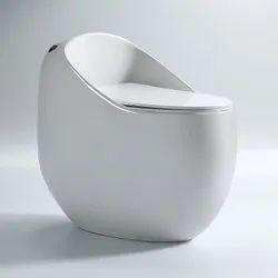 European Round Egg Shaped Toilet Bowl Siphonic One Piece Bathroom Sanitary Ware Ceramic Toilet