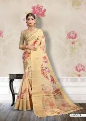 Cotton Printed Fancy Saree