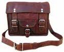 Vintage Leather Landscape Bold Satchel Bag