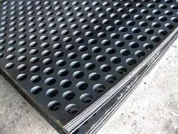 Round Mild Steel MS Perforated Plate, For Industrial, Material Grade: EN8