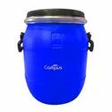 Blue 01 25 Litre Hdpe Open Top Drum, For Industrial
