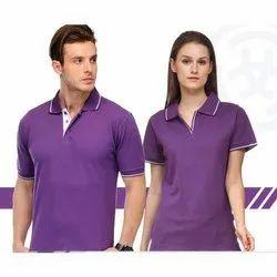 Purple Cotton Polo T-Shirt